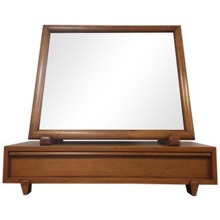 Mid Century Maple Dresser Mirror