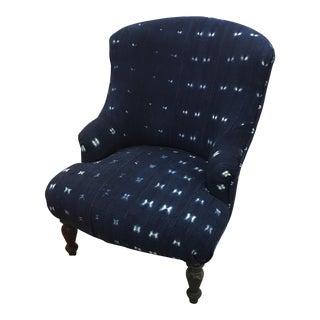Moroccan Batik Indigo Chair