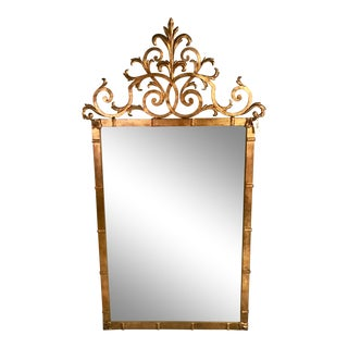 Hollywood Regency Gilt Iron Mirror