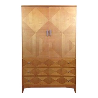 Benchmark Two-Door Oak Armoire