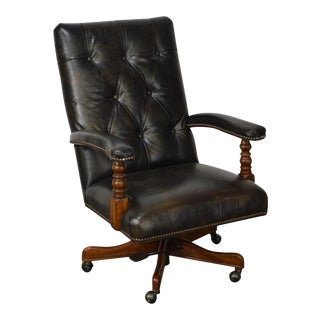 Hooker Seven Seas Tufted Leather Office Arm Chair