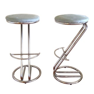 Art Deco Bar Stools - A Pair