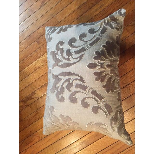 Linen and Velvet Meet Each Other Pillows - A Pair - Image 3 of 8
