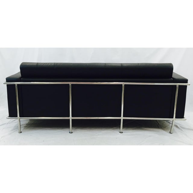 Vintage Leather & Chrome Sofa - Image 6 of 6