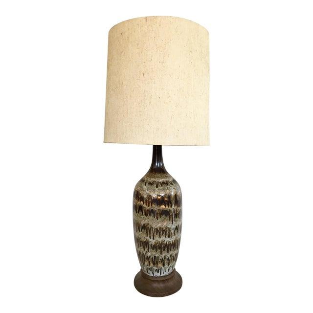 Neutral Drip Glaze Table Lamp