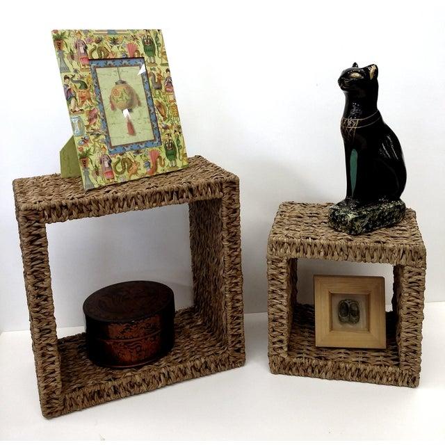 Sea Grass Shadow Box Shelves- A Pair - Image 5 of 5