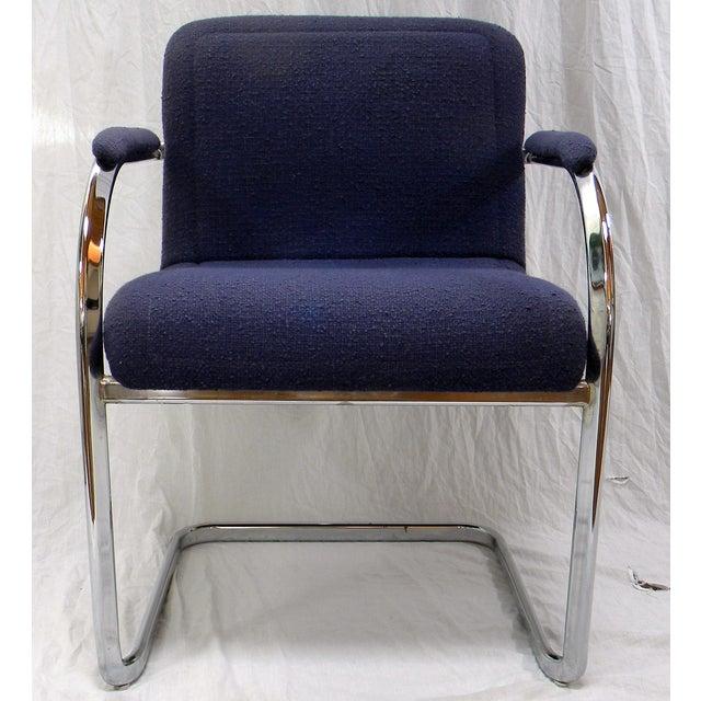 Mid Century Modern Chrome Arm Chair Chairish