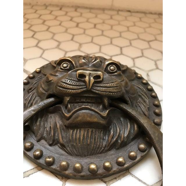 Image of Asian Tiger Brass Door Knocker
