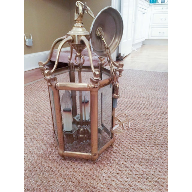 Image of 3 Light Brass Chandelier