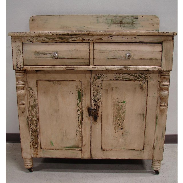 Primitive Painted Antique Dresser Chest Cupboard - Image 3 of 5