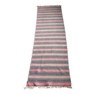 Vintage Woven Striped Runner Rug - 2′4″ × 8′2″