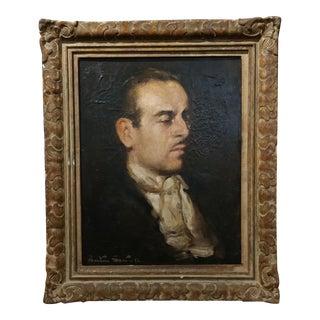 Benton Scott - 1942 Portrait of Gentleman -Original Oil Painting