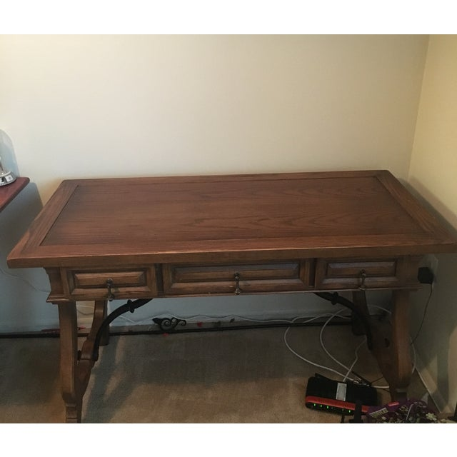 Image of Hekman Spanish Trestle Desk/Writing Table
