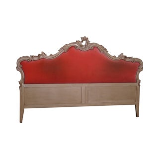 Vintage French Louis XV Red Headboard