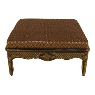 Large Upholstered Chinoiserie Bench