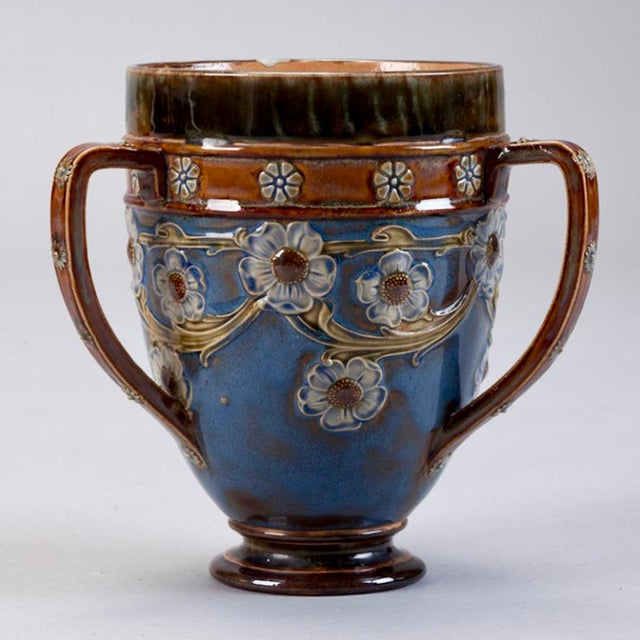 Royal Doulton Three Handled Earthenware Vase - Image 3 of 5