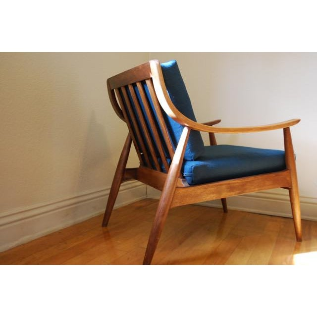 Danish Modern Vintage Lounge Chair With New Upholstery by Peter Hvidt - Image 8 of 8