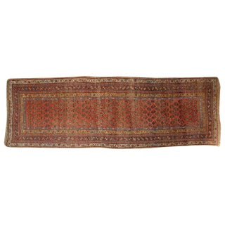 "Antique Persian Seraband Floral Carpet Runner - 3'9"" X 9'8"""