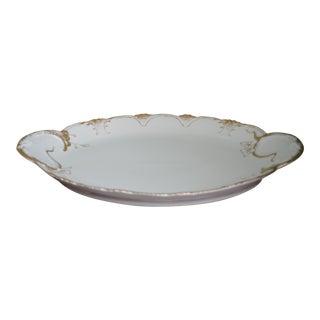 Haviland Limoges White & Gold Platter