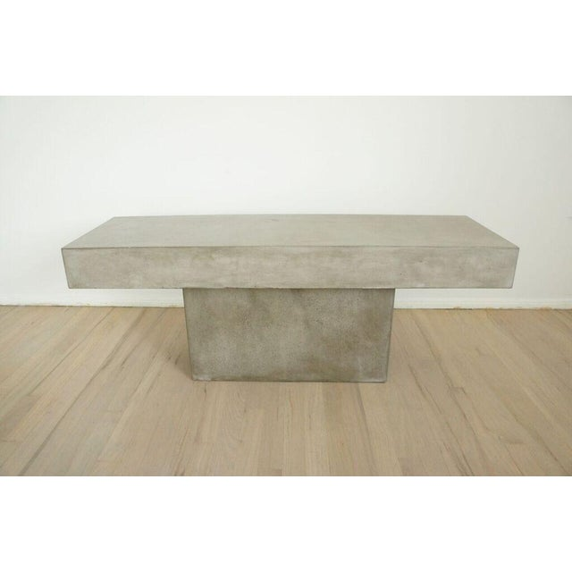 CB2 Concrete Resin Fuze Bench - Image 2 of 6