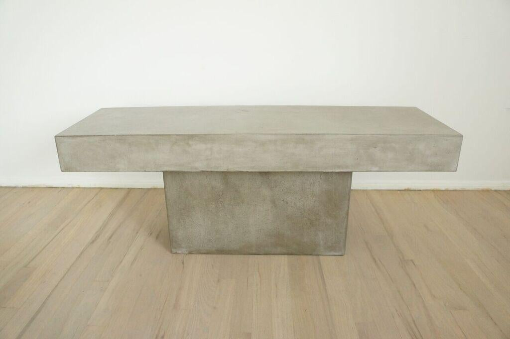 CB2 Concrete Resin Fuze Bench   Image 2 Of 6