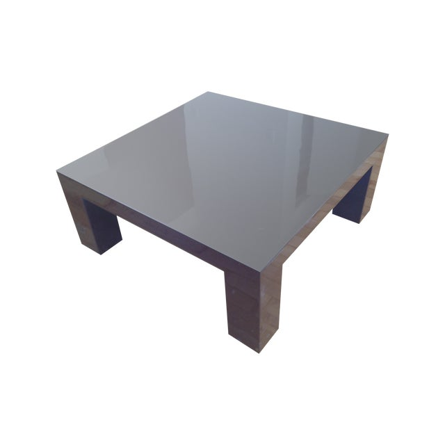 Jonathan adler brown lacquer coffee table chairish Jonathan adler coffee table