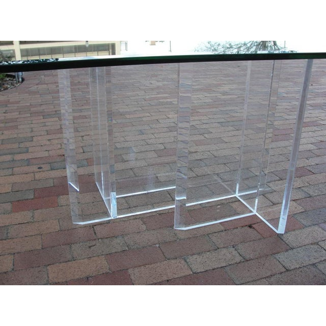Lucite Base Dining Table/ Desk - Image 3 of 5