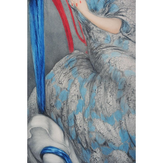 """Symphony in Blue"" Etching by Louis Icart - Image 6 of 9"