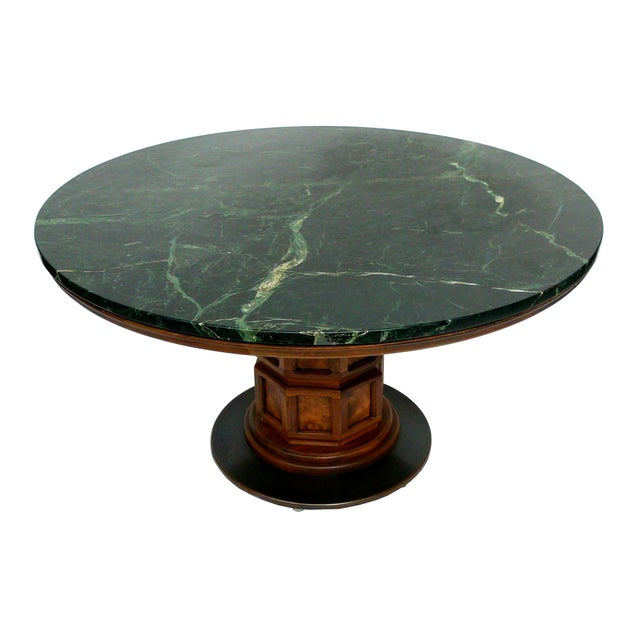 Widdicomb Mid-Century Green Marble Center Table - Image 1 of 7