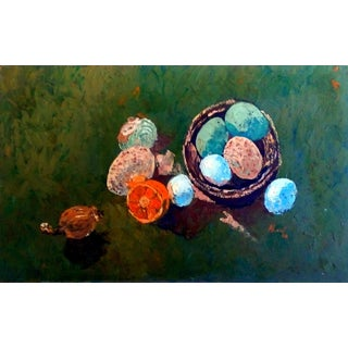 1962 Impasto Still Life on Board