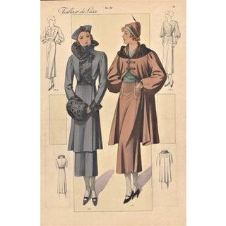 1935 French Art Deco Fashion Print