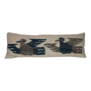 Indian Weaving Birds in Flight Bolster Pillow