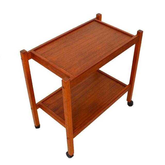 Compact Teak Bar/Serving Cart - Image 1 of 7