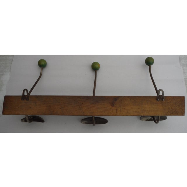 Image of Green French Demilune Coat Rack