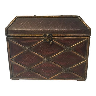 Crackle Leather Treasure Chest