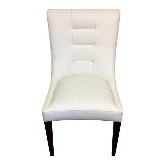 Dakota Jackson White Leather Marina Odile Chair - Image 1 of 10