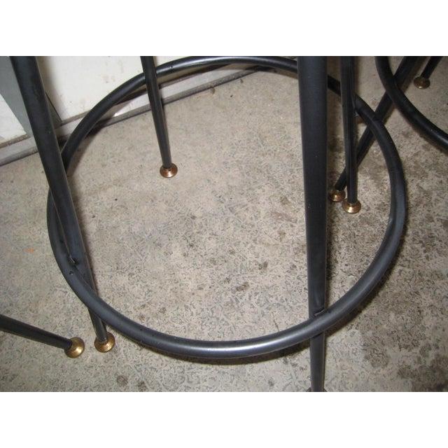 Image of Vintage Mid Century Atomic Bar Stools - Set of 6