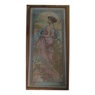 Alphonse Mucha 'Summer' Lithographic Print