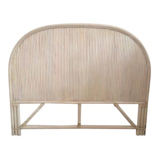 Vintage Ficks Reed Rattan Queen Size Headboard