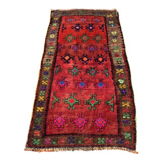 Vintage Turkish Anatolian Rug - 3′ × 6′8″