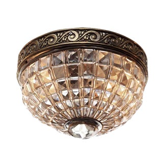 Crystal Basket Flush Mount Light