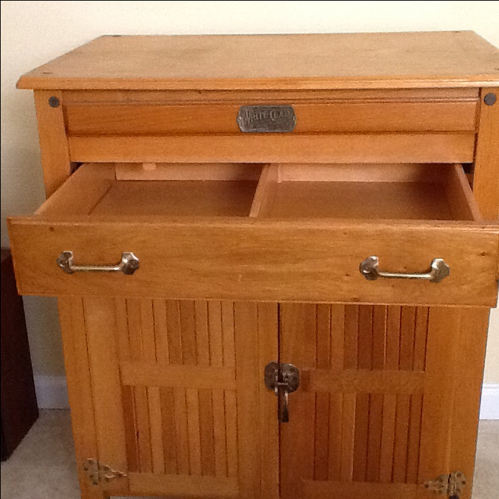 Wooden Kitchen Island on Casters