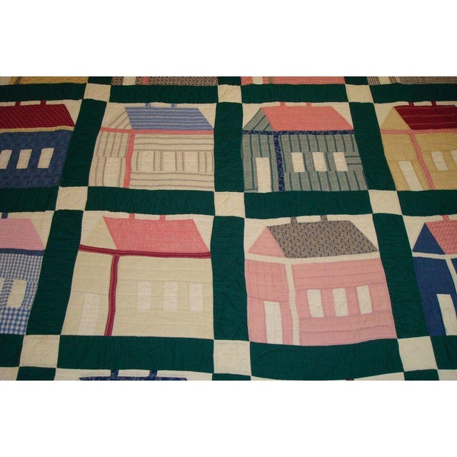 Early 20thC. Folky School House Quilt - Image 4 of 9