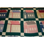 Image of Early 20thC. Folky School House Quilt
