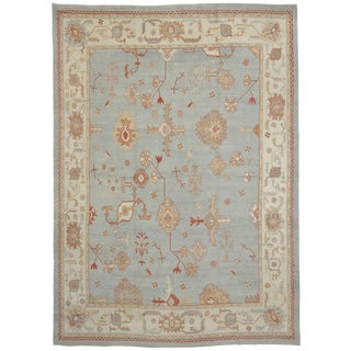 "Contemporary Turkish Oushak Rug - 12'5"" x 17'1"""
