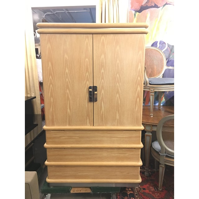 Jay Spectre for Century Furniture Bleached Oak Armoire - Image 2 of 11