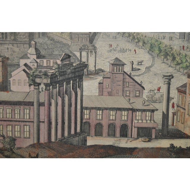 """Antique """"View of Rome"""" Engraving 19th Century - Image 10 of 11"""