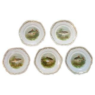 German Wurttemberg Fish Plates - Set of 5