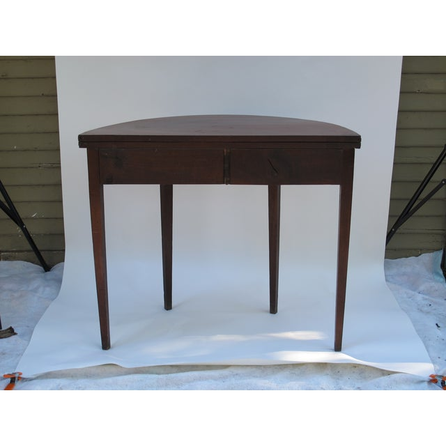 Sheraton-Style Demilune Rosewood Game Table - Image 9 of 11