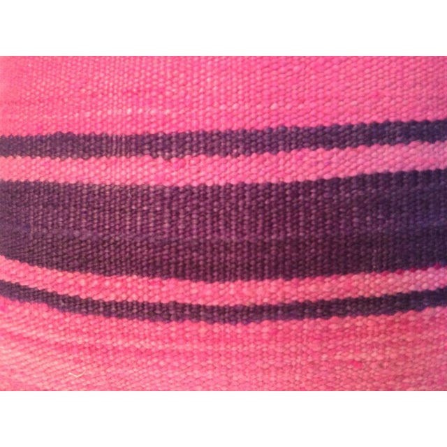 Image of Pink Stripe Moroccan Kilim Pillow